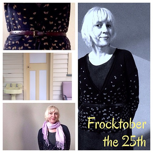 #frocktober the 25th. Same frock, different scarf. Thanks @easypeasykids @richendav for your donations!