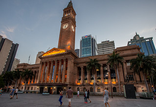 Image of  Brisbane City Hall. cityhall brisbane brisbanecityhall