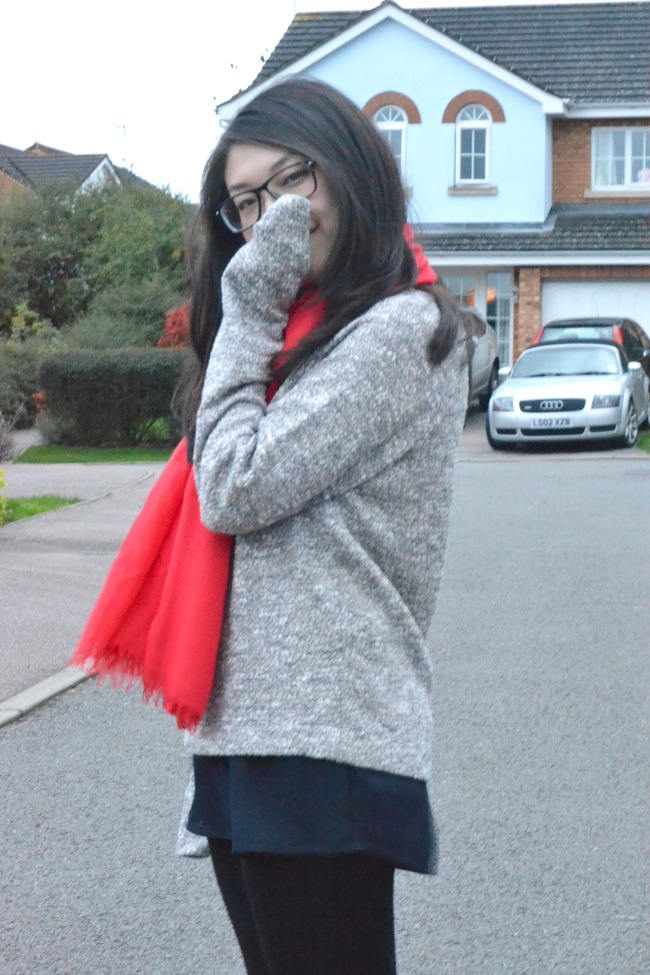 Daisybutter - UK Style and Fashion Blog: what i wore, how to layer knits, next, seven boot lane, j crew