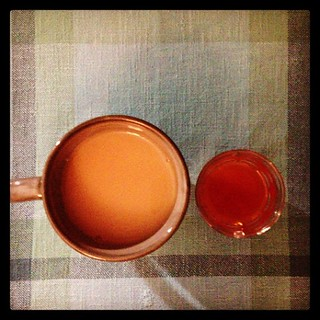 Tea and apple cider. #teaftw