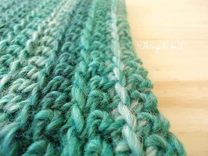 crocheted rib cowl