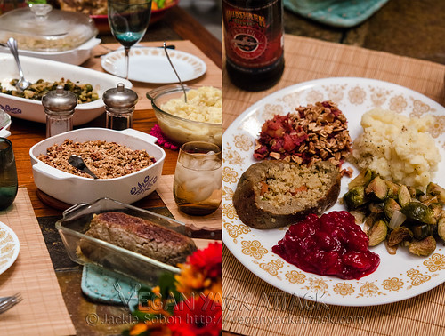 Vegan thanksgiving spread