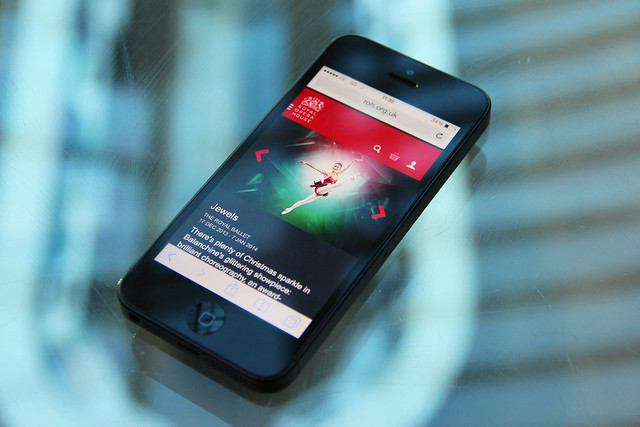 The Royal Opera House's mobile-ready site © ROH/Chris Shipman
