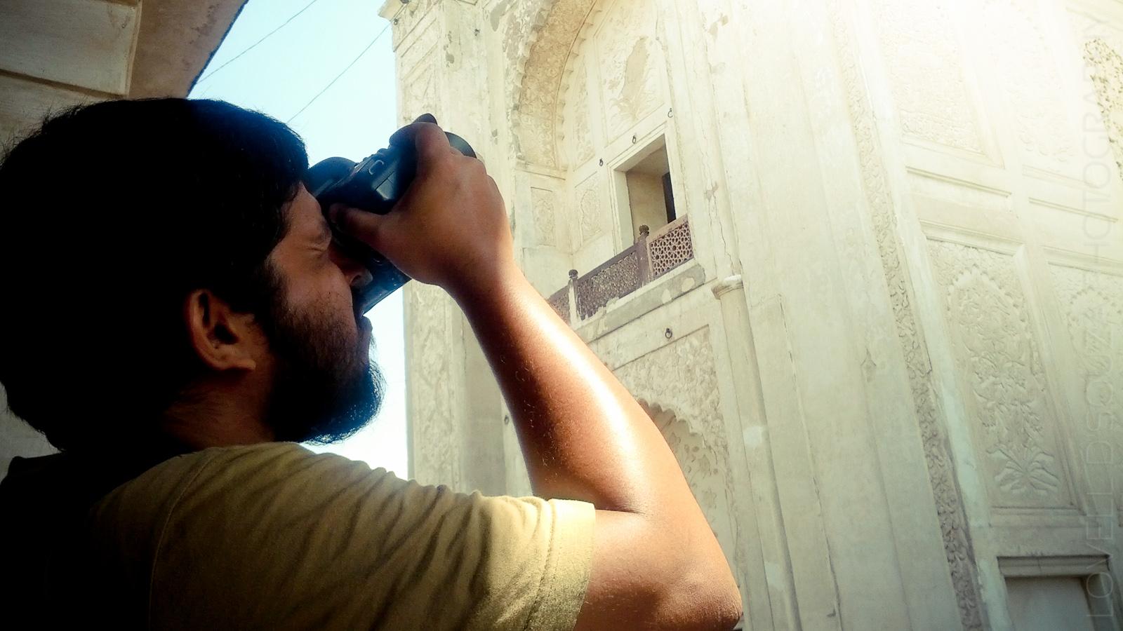 Lovell clicks the Bibi Ka Maqbara