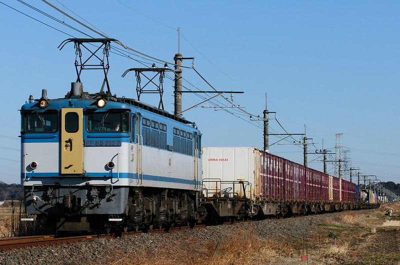 96レ EF65 2127 Freight Train