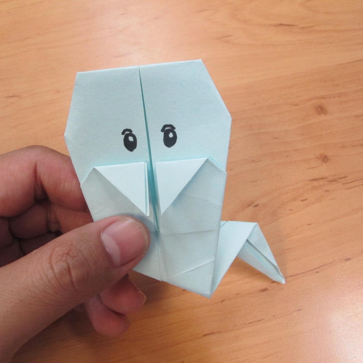 วิธีพับกระดาษเป็นรูปผีน้อย 014