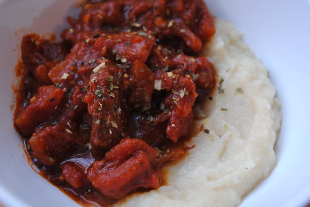 Beef Ragout with Mashed Cauliflower