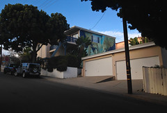 Elephant Mural on the side of a House in Santa Monica, California