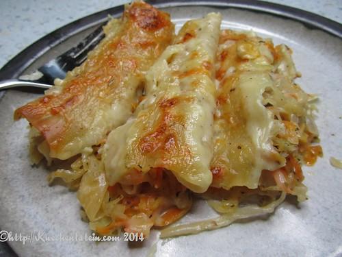 Cannelloni mit Sauerkraut-Möhrenfüllung und Cheddar-Béchamelsoße (4)