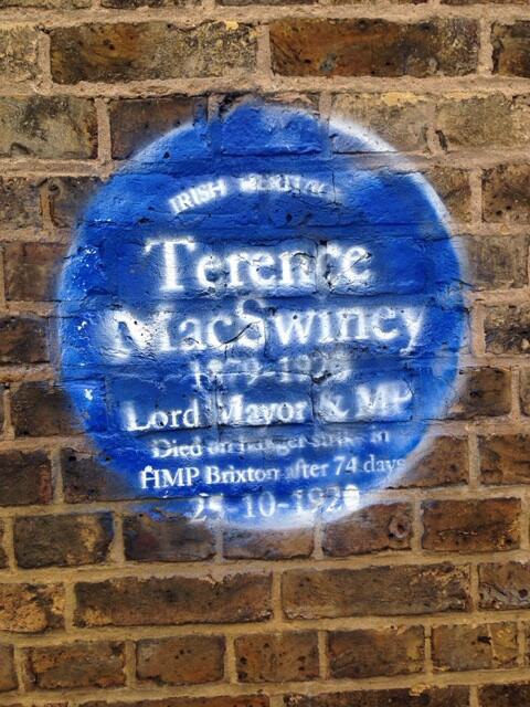 Photo of Terence MacSwiney blue plaque