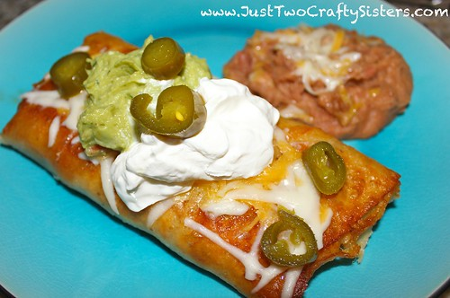 Mealtime Monday: Shredded Beef Chimichanga - Just Two Crafty ...