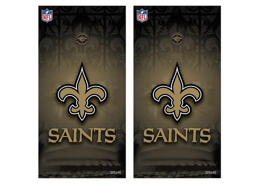 New Orleans Saints Cornhole Game Decal Set