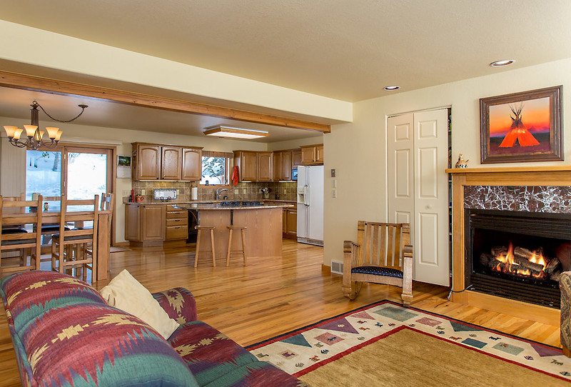 fireplace, family room, open concept, home for sale, Steamboat Springs