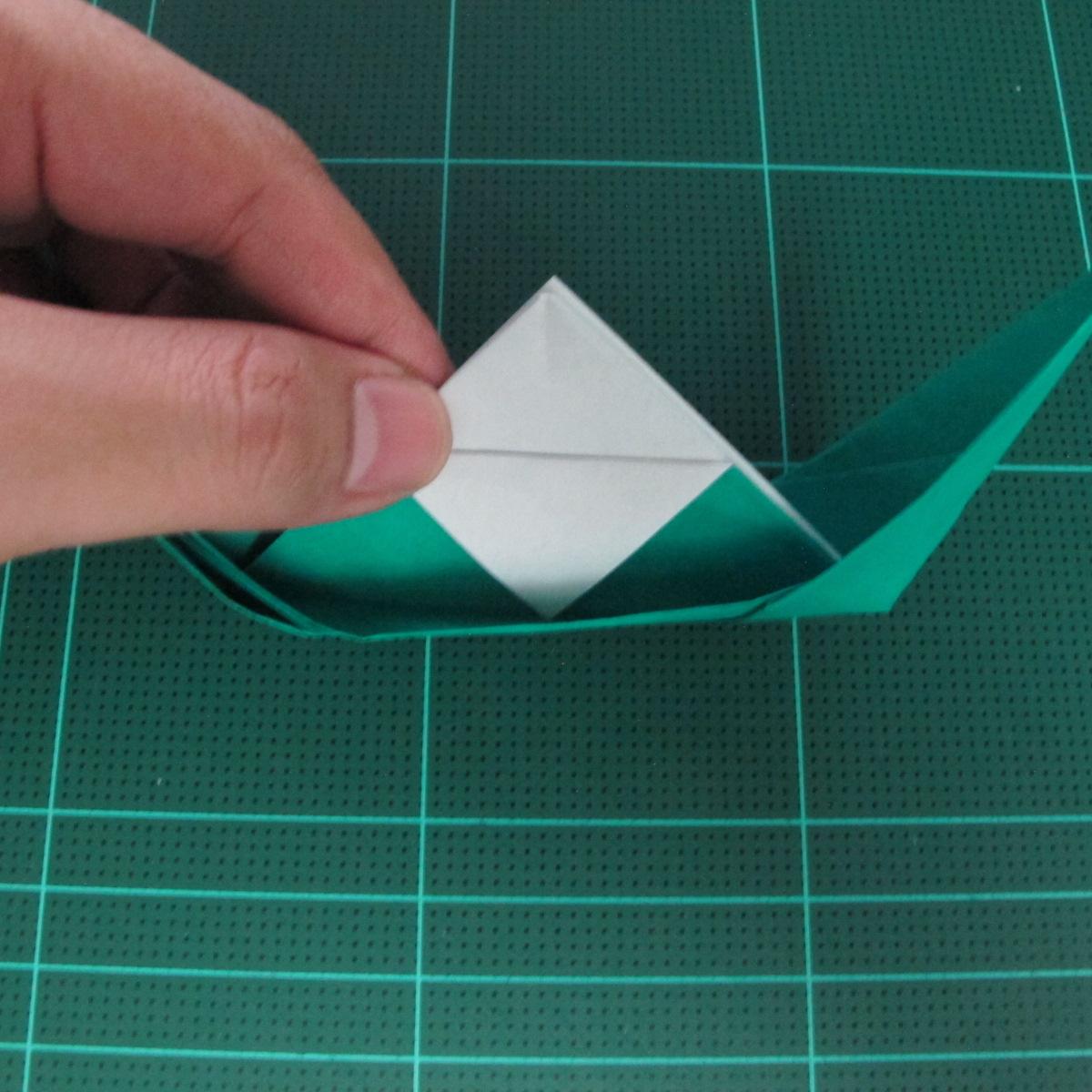 การพับกระดาษเป็นรูปเรือมังกร (Origami Dragon Boat) 024