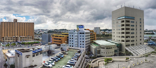 city panorama japan okinawa hdr