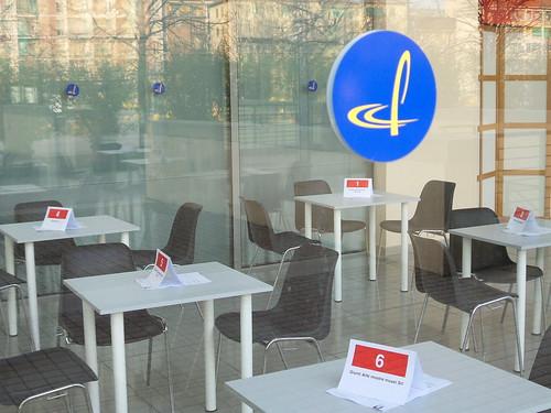 Preparazione tavoli One to One #AMIEX 2014 by Ylbert Durishti