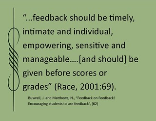 "Educational quotation:  ""Feedback should be..."""