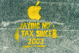 Protesting Against Apple's Tax Policy - Dublin Street Art