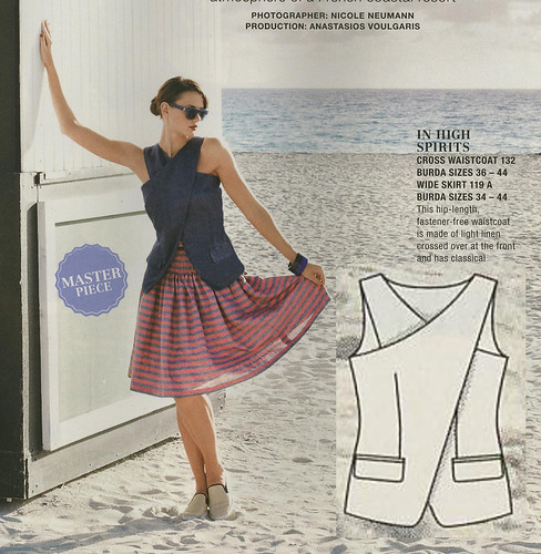 Burda May 2014 - Crossfront Vest