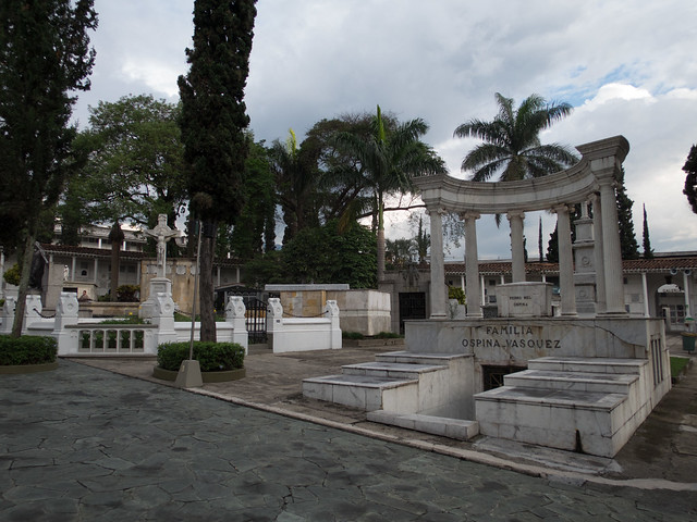 Graves, including that of a former president of Colombia (right)