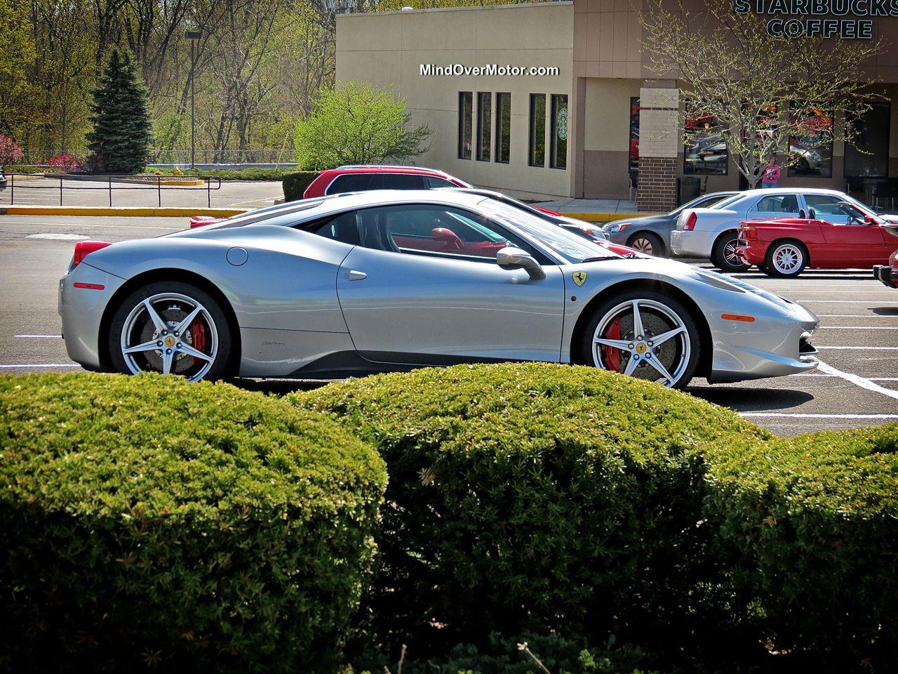Silver Ferrari 458 Italia