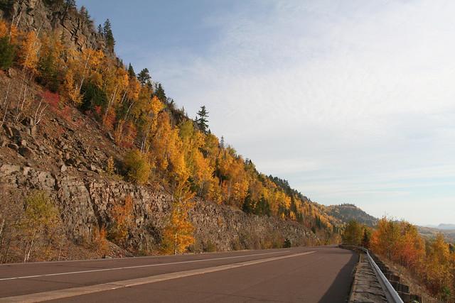 Highway 61 in Fall, Minnesota