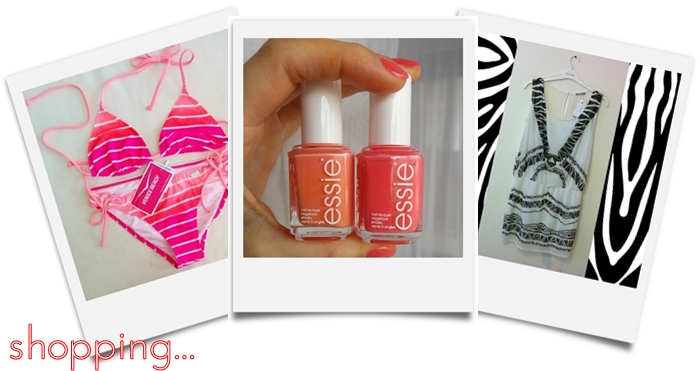 venice beach bikini | essie cute as a button & tart deco | kleid orsay
