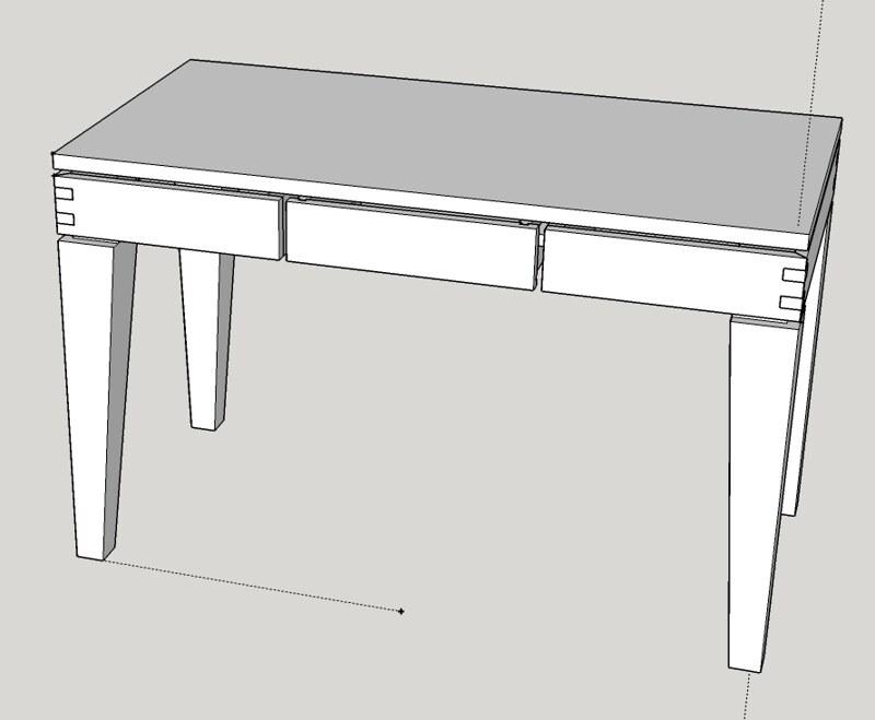 sketch of desk