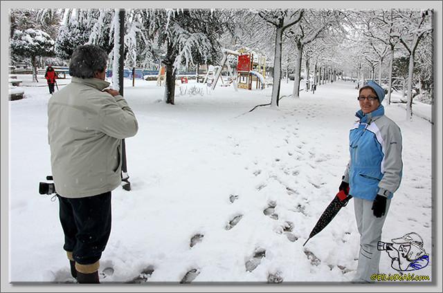17 Primera nevada en Briviesca 2015