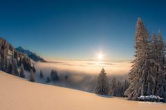 Obheiter im Allgäu im Winter.