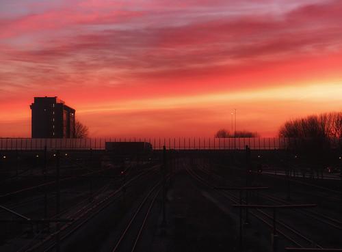 amsterdam sunrise nederland sloterdijk zonsopkomst hansheemsbergen fujifilmx10