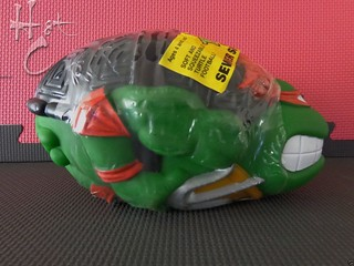 TEENAGE MUTANT NINJA TURTLES :: RAPHAEL'S SEWER SPORTS FOOTBALL / ..original label & wrapping A (( 1992 ))  [[ Courtesy of Hot Collector Network ]]