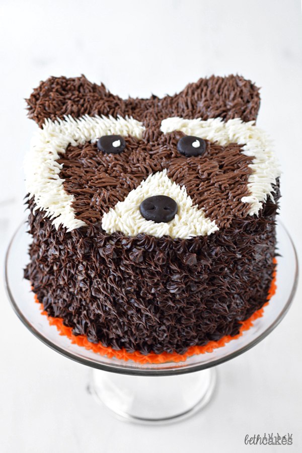 Rocket Raccoon Cake - bethcakes.com