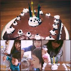 Making Mummy's Birthday Cake! Triple chocolate...