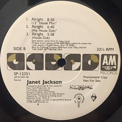 JANET JACKSON:ALRIGHT(LABEL SIDE-B)
