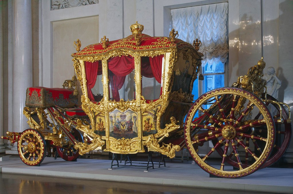 Grand Cornationa Carriage. Early 1720s. Hermitage