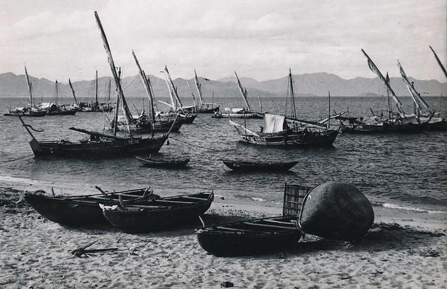 INDOCHINE, années 50 - Le port de pêche de Nhatrang