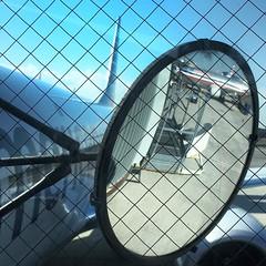 here we go.   #travel #airport #convex #mirror