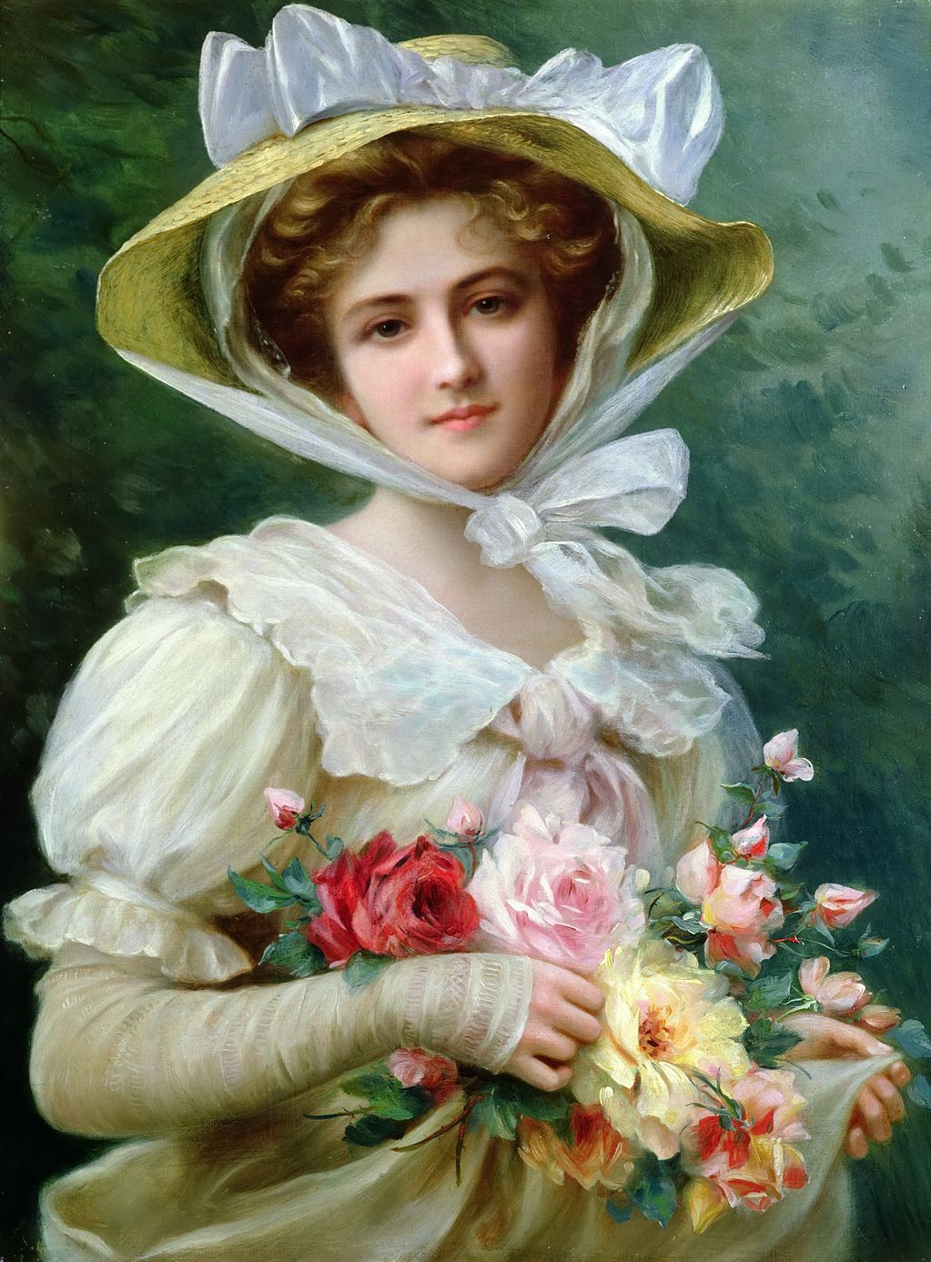 40 Fine Art Paintings by Émile Vernon – 5-Minute HistoryVictorian Woman Portrait
