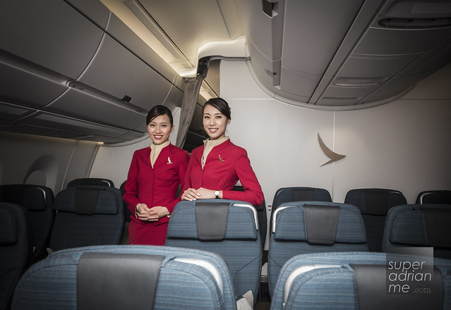 Cathay Pacfic Female Flight Attendants in new A350