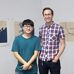 Artists Trevor Yeung and Lucas Ilhein at the Trial Observations exhibition launch