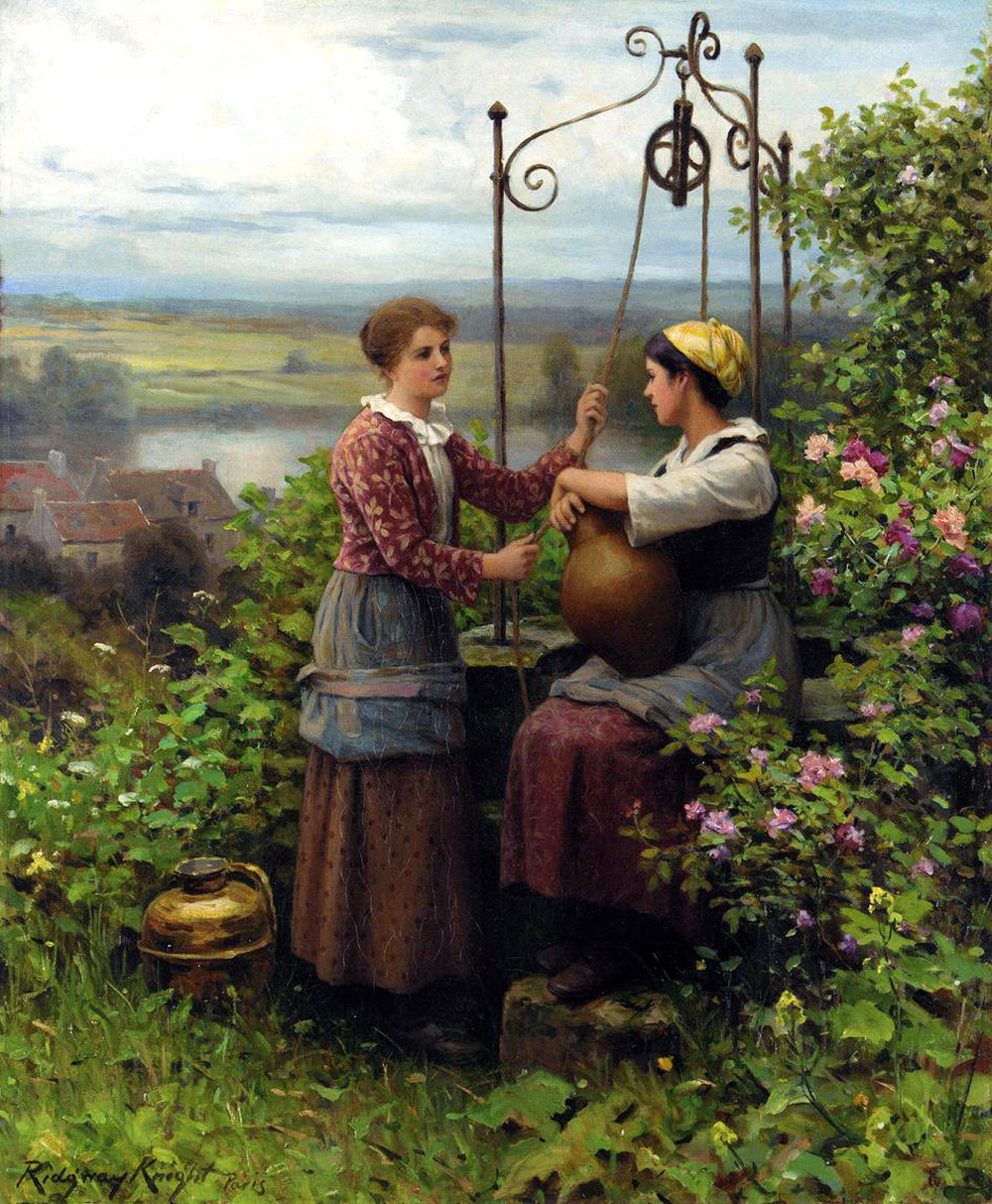 The Conversation by Daniel Ridgway Knight