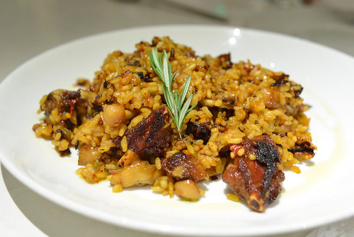 Arroz Con Costillas De Cerdo Ibérico De Bellota made with the ribs of the famous, black-footed ibérico de bellota pig