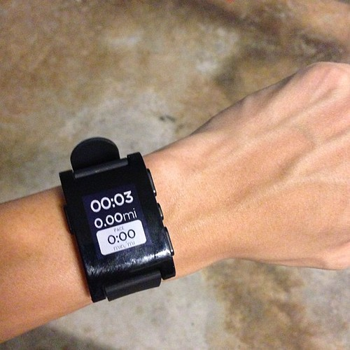 #pebble married #runkeeper !