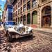 Limousine originale dans le Vieux Montréal