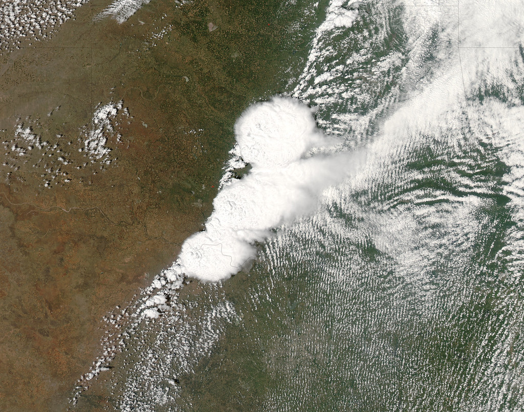 Oklahoma storm of May 20, 2013, as viewed by NASA Goddard's Aqua satellite.