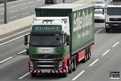 Volvo FH 6x2 Tractor - PX11 CDO - Mabel Milly - Eddie Stobart - M1 J10 Luton - Steven Gray - IMG_8195