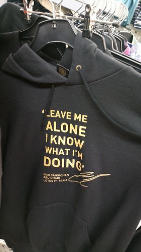 Leave me alone I know what I'm doing Kimi Räikkönen Abu Dhabi Lotus F1 Team hoodie