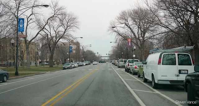 Marshall Boulevard parking+bike lanes