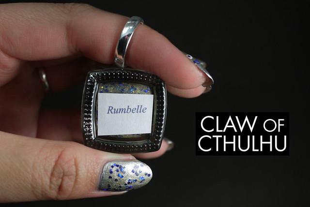 Fandom Cosmetics Rumbelle (over Essie No Place like Chrome)